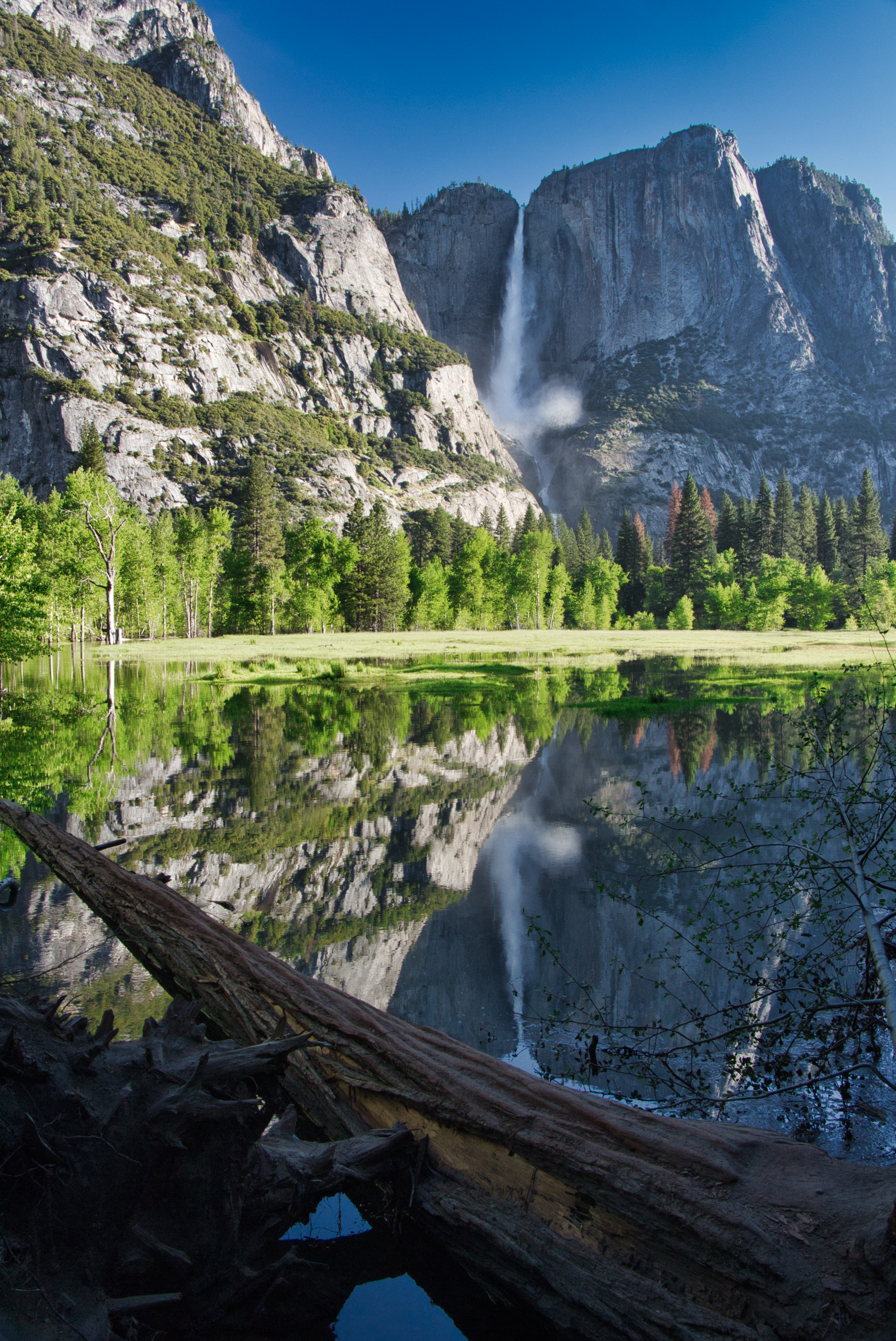 Base of Bridal Veil Falls in Yosemite