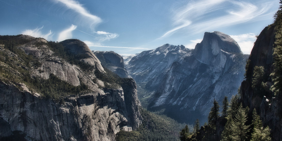 View of Half Dome from Union Point in Yosemite National Park